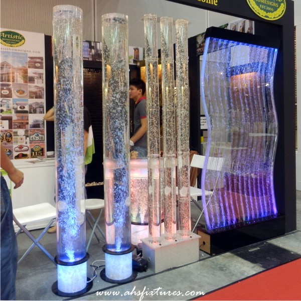 Exhibition Stand Water Features : Ahs fixtures malaysia acrylic bubble tube column water