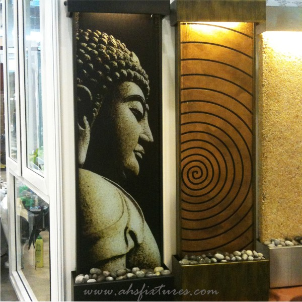 Ahs fixtures malaysia wall decoration fountain interior and buddha good feng shui laminated imprint textured glass wall fountain water feature workwithnaturefo