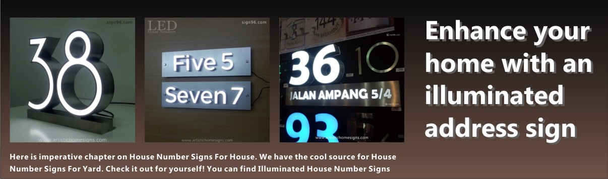 AHS Fixtures - LED Illuminated House Number Address Signage Made In Malaysia Sign Shop